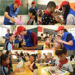 """银海志愿者服务队与桂宁小学""""结对共成长""""公益活动"""